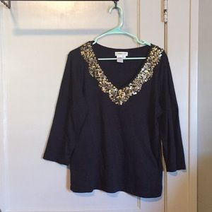 Sequined dress top